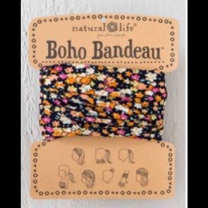 Natural Life Boho Headband Bandeau Orange & Black